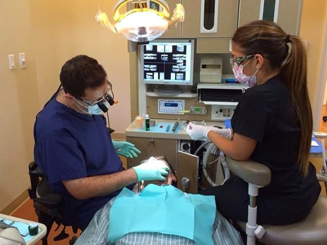 dentist using cerec machine