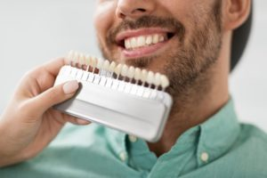 a man getting porcelain veneers
