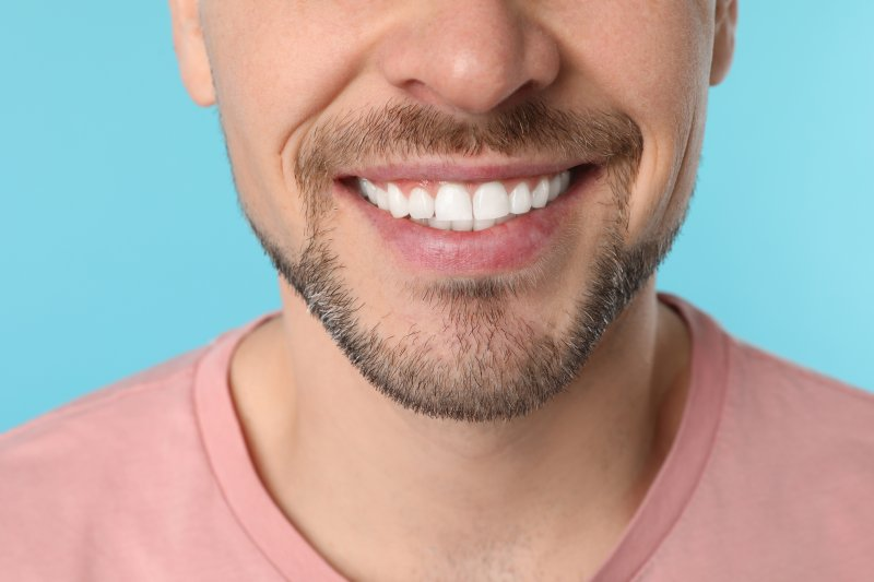 a man with a healthy smile